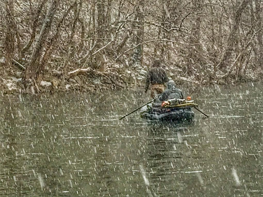 snowy day on the James River.