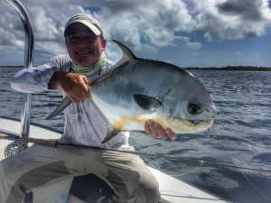 permit caught at Turneffe Flats, Belize.