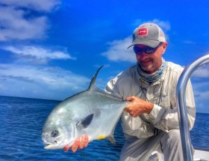 permit caught in belize. Turneffe flats special rate.