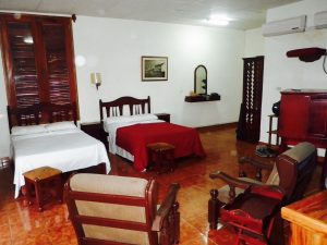 Rooms at lodge in Cuba.