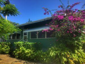 Front veiw of Belize River Lodge, Belize.