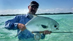 Belize Central America Permit. Permit caught at Belize River Lodge.