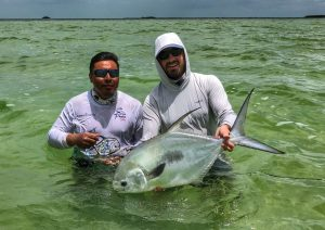 Big permit caught in Ascension Bay Mexico.