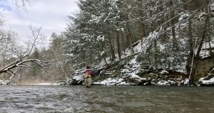 Winter time fishing in Virginia. Virginia fishing guides.