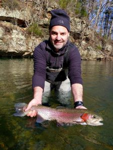 A very nice rainbow trout.