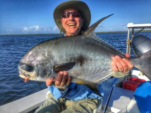 Very nice permit caught at Turneffe Flats, Belize. Belize and Central America Permit.