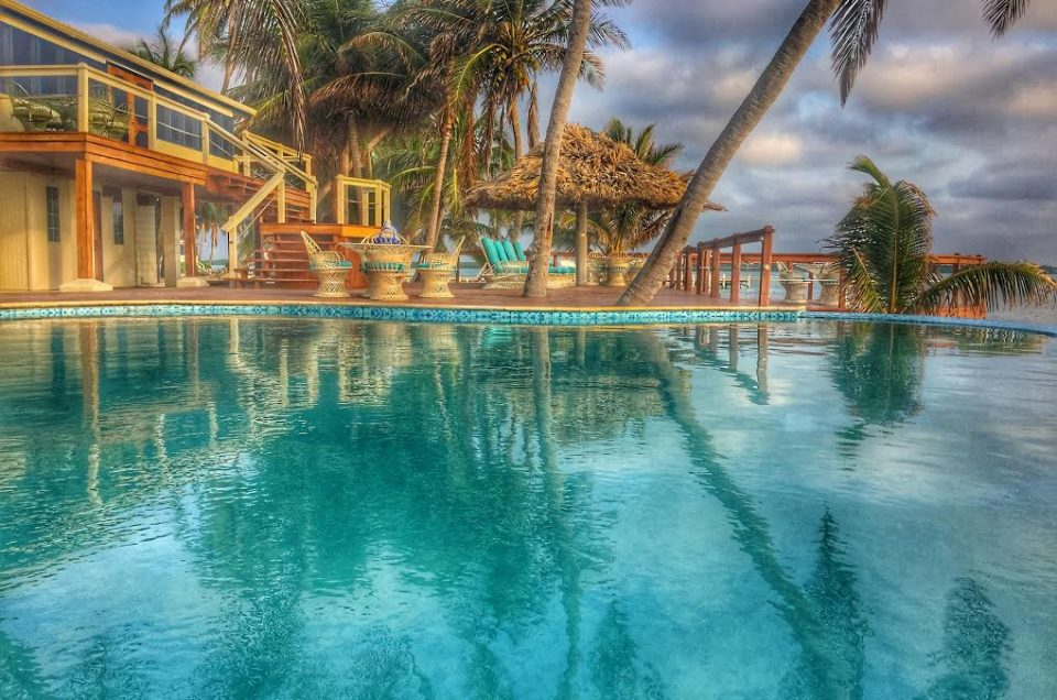 swimming pool atTurneffe. Turneffe is trully a special place. Flats Belize.