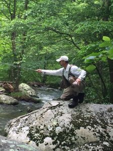 fishing the Hazel river Virginia.