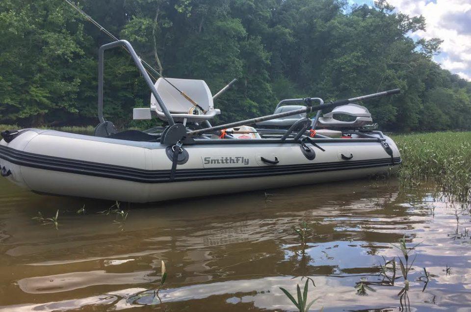 Smith fly boat on Rivanna river