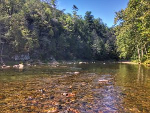 The Cowpasture river in Bath County Virginia. One of many rivers Sachem's Pass members have access to.