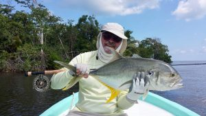 A Jack caught while fishing from the Belize River Lodge and Long Caye oupost, Belize.