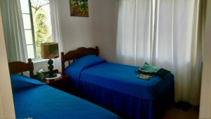 Bedroom at the Long Cay outpost lodge. Belize River Lodge, Belize.