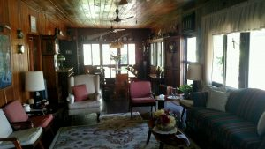 Inside view of the main lodge at Belize River Lodge.