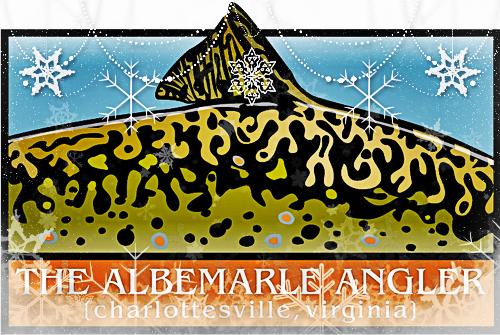 Christmas Albemarle Angler logo.